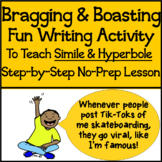 Free & Fun Expository Writing Activity Using Similes & Hyp