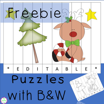 Free Fun Year End Puzzle - Editable