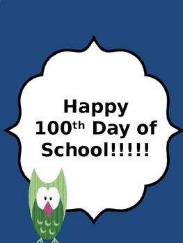 Free, Fun, and Fast 100th Day of School Activities