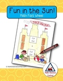 Free Fun in the Sun Math Fact Wheel