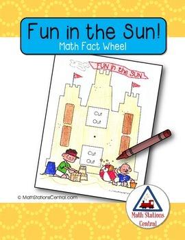 Free Fun in the Sun Math Fact Wheel