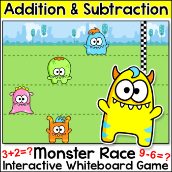 Free Game! Monster Race Addition and Subtraction Game for SMARTboards