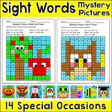 Sight Words Morning Work Worksheets Bundle incl. Fall & Halloween Activities