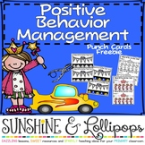 Behavior Management Punch Cards for Primary Grades Freebie
