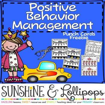 Behavior Management Clip Chart/Punch Cards for Primary Gra