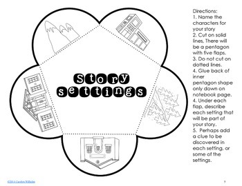 Free Generic Mystery Writing with Interactive Student Notebook Foldables