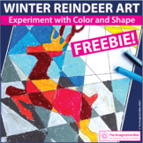 Free Christmas Coloring Pages - Reindeer Art Activity
