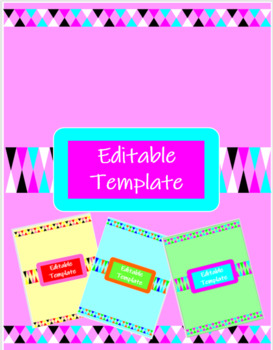 Free Geometric Binder Covers (Editable)
