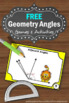 FREE Geometry Angles Complementary and Supplementary and Adjacent Task Cards