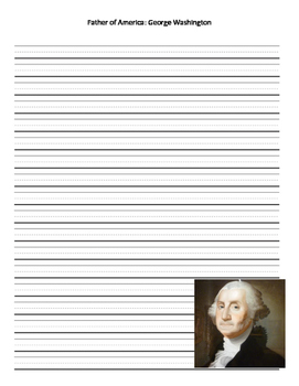 George Washington Writing Lined Paper