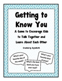 Free: Getting to Know You Game