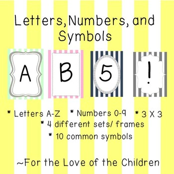 Letters, Numbers, and Symbols Pack