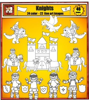New Knights, Castles, Horses, and Dragons Clip art