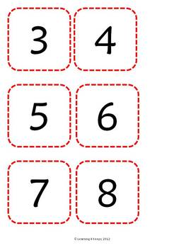 Free Gingerbread Baking Center- Number Recognition