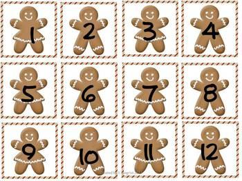 Free Gingerbread Calendar Pieces
