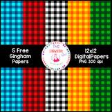 Free Gingham Digital Papers