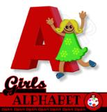 Free Girl's Alphabet Letter Clip Art