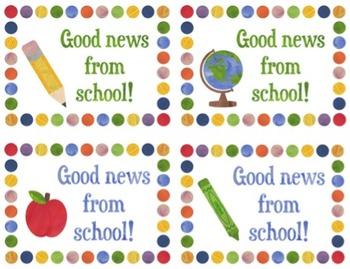 Free Good News from School Postcard