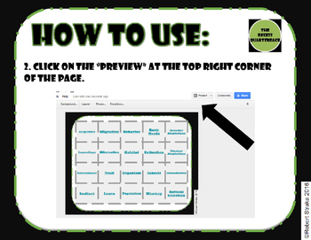 FREE Google Classroom Sample Vocabulary Grid Adaptations