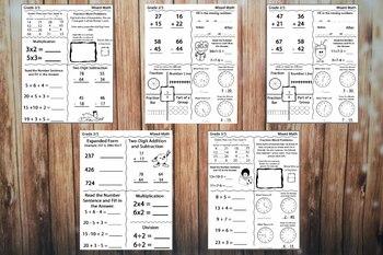Free Grade 2/3 Mixed Math Worksheets