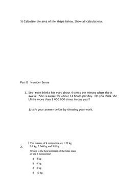 Free Grade 6 Math Test