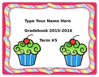 Free Gradebook Cover (Editable)