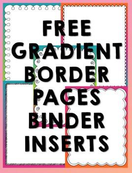 Free Gradient Binder Inserts