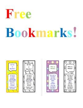 Free Grammar Bookmarks!