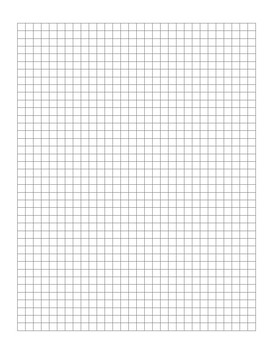 Free Graph Paper Template  (30 x 40 Squares)