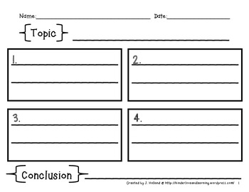 Free Graphic Organizers {Pre-writing Templates}