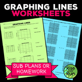 Graphing Worksheets, Sub Plans or Homework