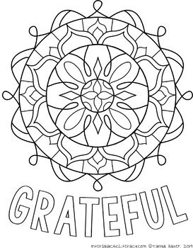 Free Grateful Coloring Sheet
