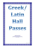 Free Greek Latin Symbol Hall Pass Elementary Gifted Middle High School