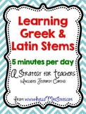 Greek and Latin Roots Freebie