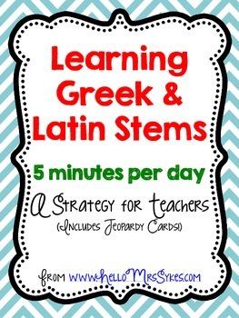 Greek and Latin Roots Freebie