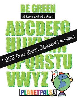 Free Green Alphabet
