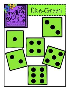 {Free} Green Dice Clipart {Creative Clips Digital Clipart}