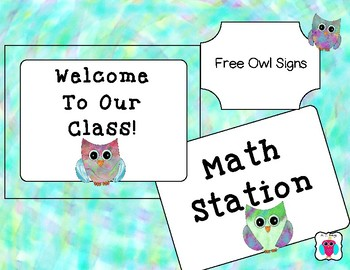 Free Green Owl Signs