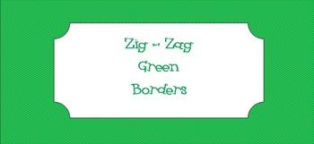 *Free Green Zig-Zag Borders
