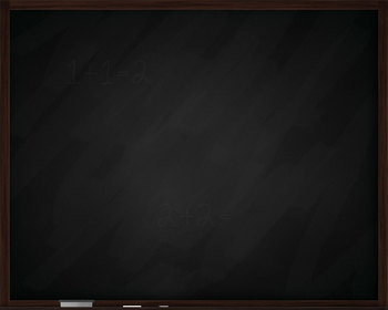 Free - Green and Black Chalkboard Clipart (with chalk and eraser)