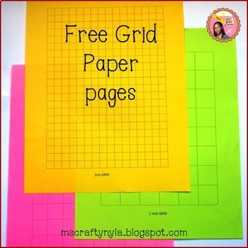 Free Grid Paper Templates By NylaS Crafty Teaching  Tpt
