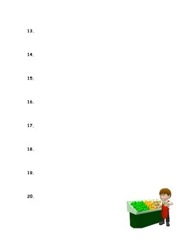 Free!  Grocery Grab Food Label Answer Sheet