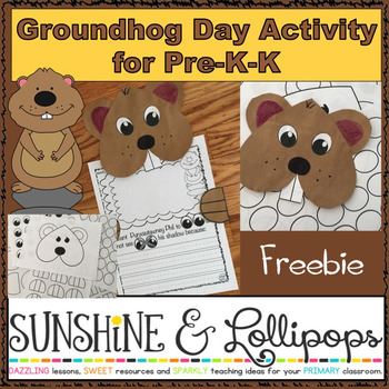 Free Groundhog Day Activity for Pre-K-K