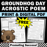 Free Groundhog Day Activities, Poetry Writing Prompts Secret Code Worksheets