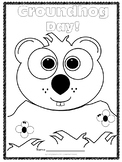 Free Groundhog Day Coloring Sheet