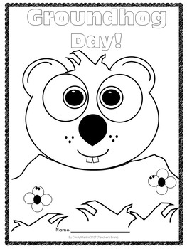 Free Groundhog Day Coloring Sheet
