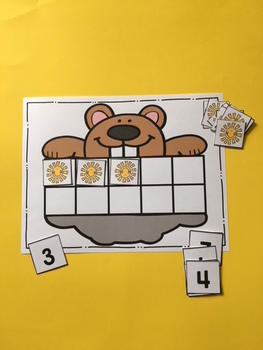 Free Groundhog Number Cards