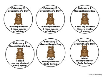 Free Groundhog's Day Wearable Pins