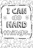 Free Growth Mindset Coloring Sheets