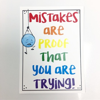Free Growth Mindset and Motivation Poster and Desk Reminders
